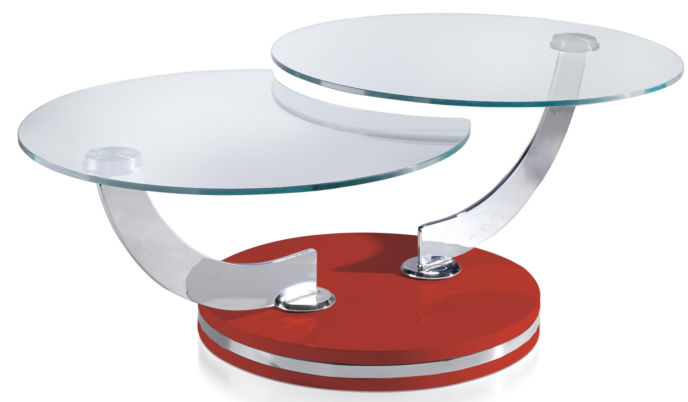 Table Basse Extensible Verre Trempe Pieds Acier Inoxydable Et Bois