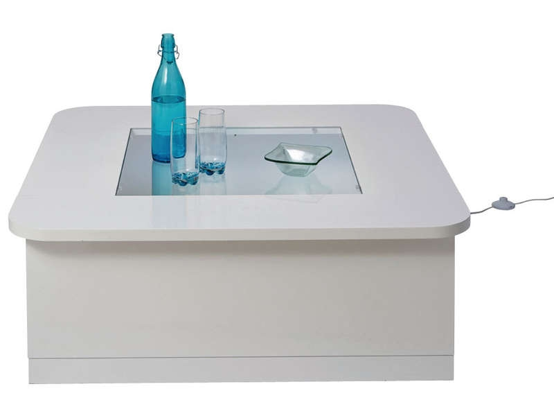Table basse laqu e blanche led koyd - Table basse blanche laquee pas cher ...