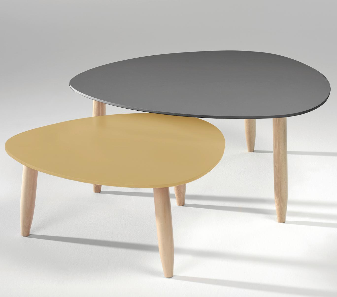 table basse jaune moutarde