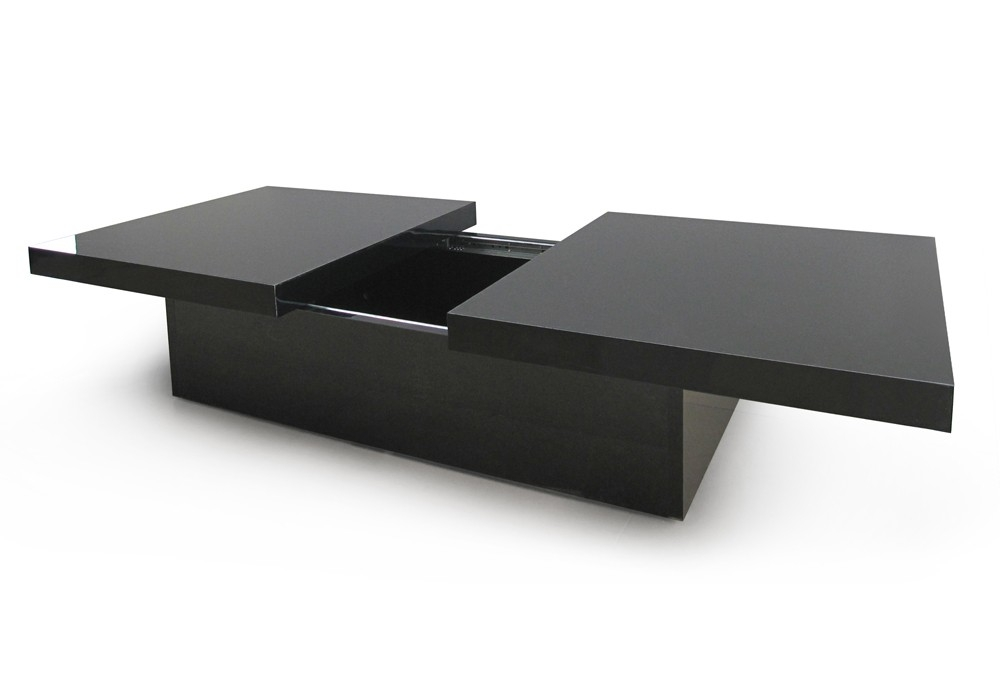 table basse laqu e noire margo. Black Bedroom Furniture Sets. Home Design Ideas
