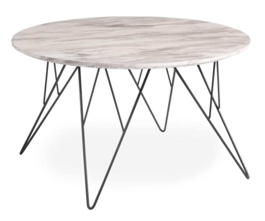 table basse ronde effet marbre clair manu. Black Bedroom Furniture Sets. Home Design Ideas