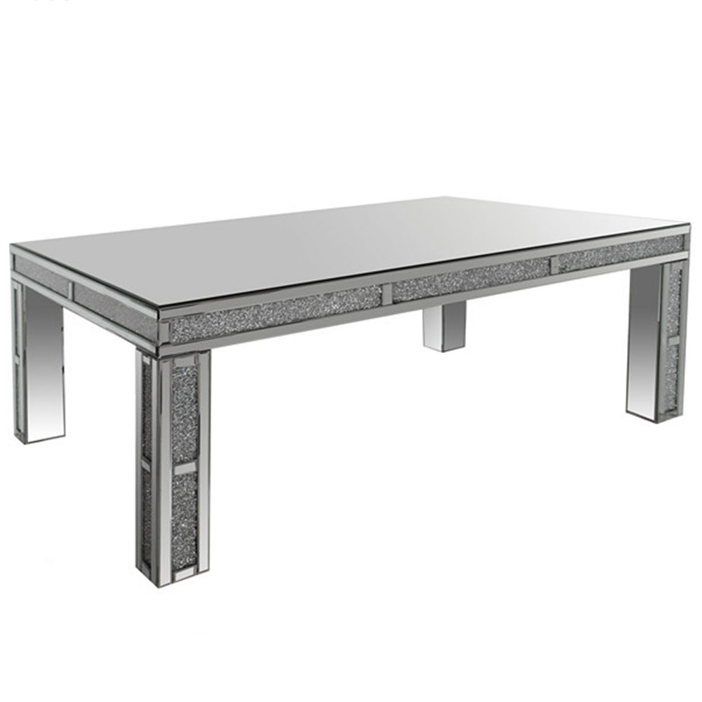 Table basse miroirs venizia for Table basse miroir