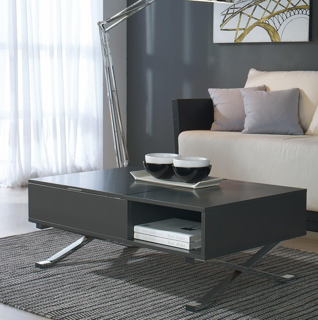 table basse plateau relevable gris mura. Black Bedroom Furniture Sets. Home Design Ideas