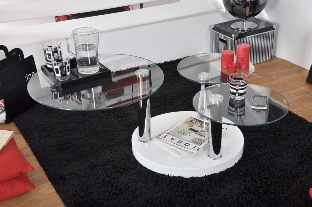 Table basse plateaux en verre pivotants balow - Table basse plateaux pivotants ...