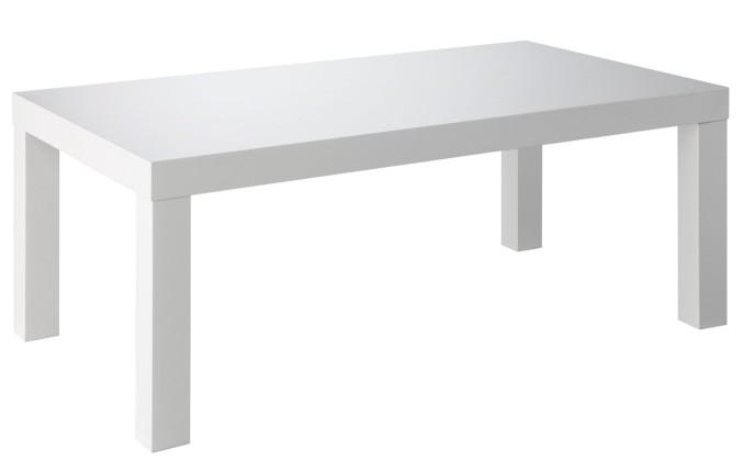 Table basse rectangulaire laqu blanc ozio - Table basse rectangulaire blanc laque ...
