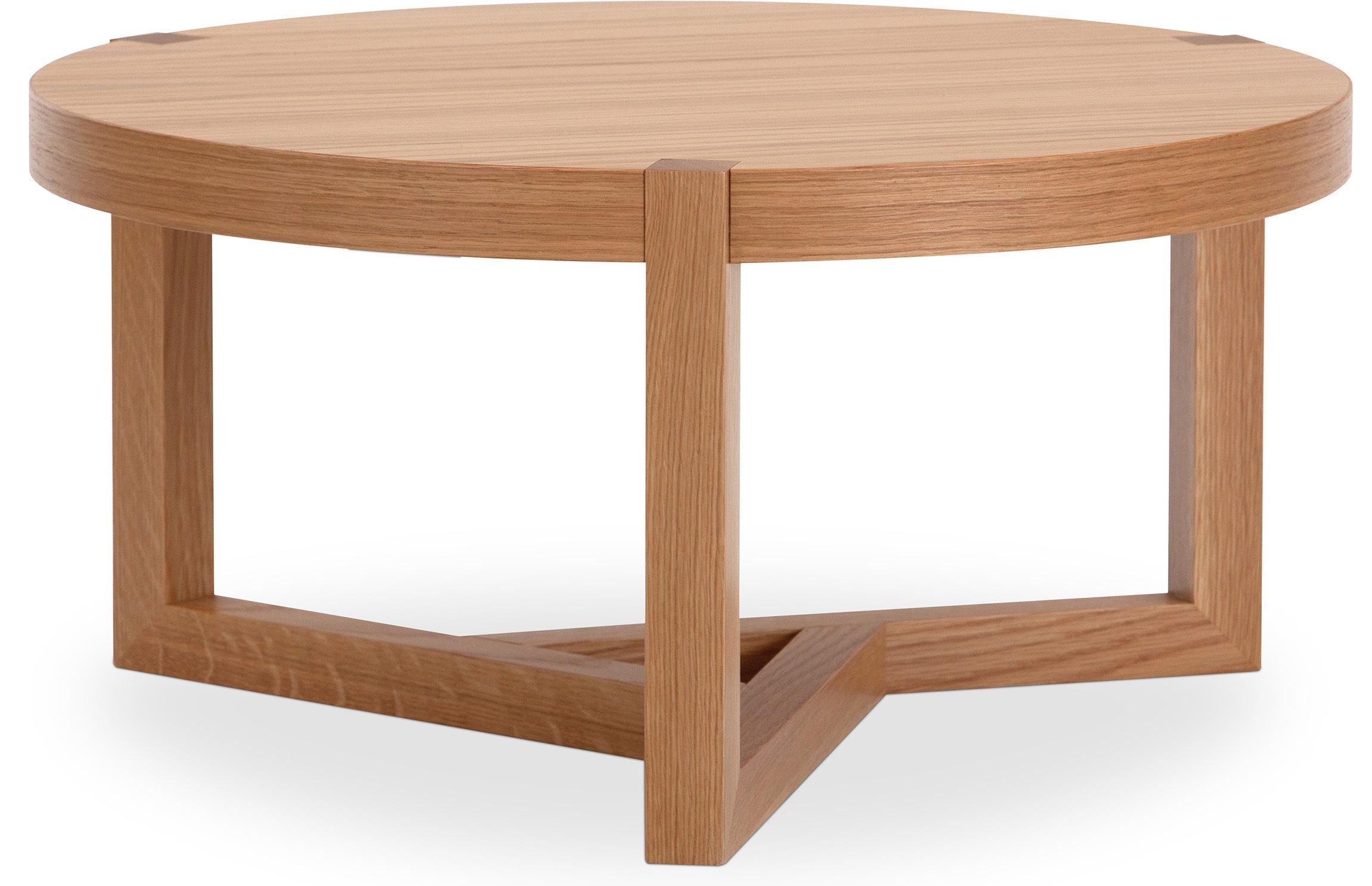 table basse ronde scandinave bois naturel kine. Black Bedroom Furniture Sets. Home Design Ideas