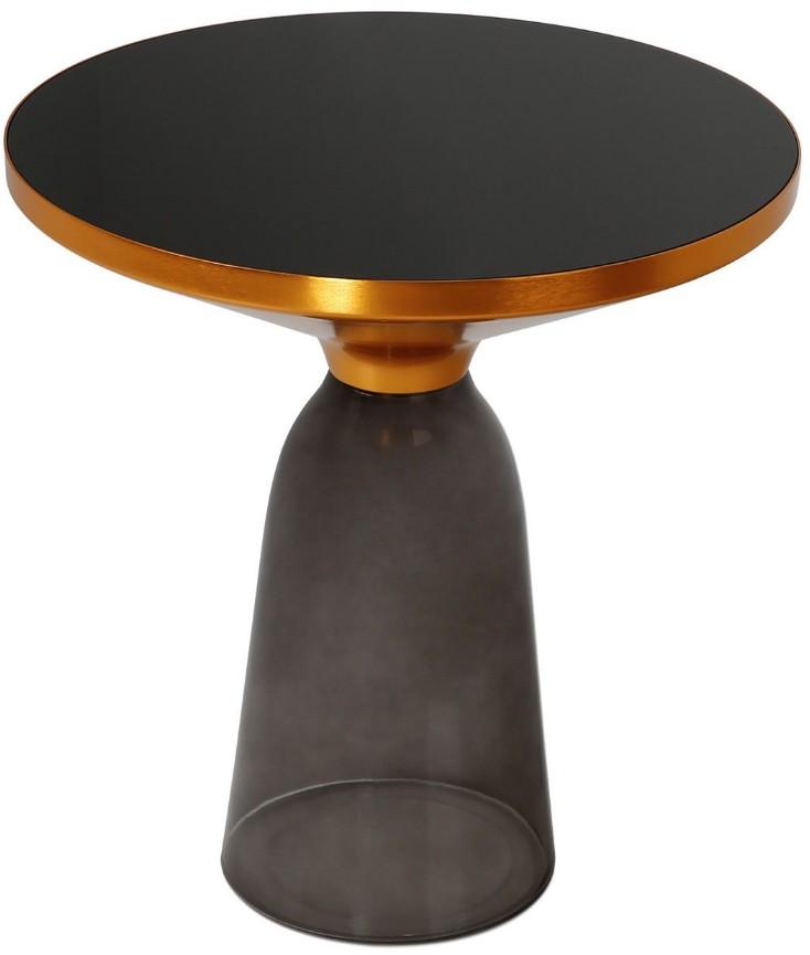 table basse ronde verre fum et plateau verre tremp noir bel. Black Bedroom Furniture Sets. Home Design Ideas