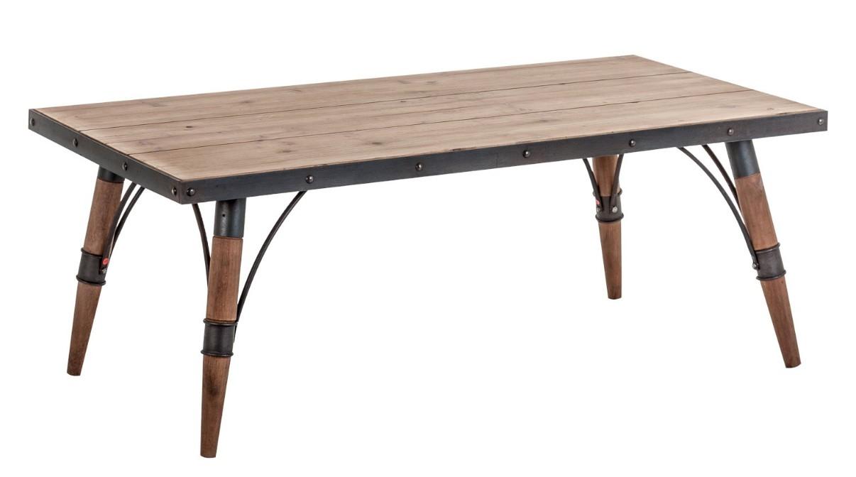 table basse sapin massif clair et fer noir penky. Black Bedroom Furniture Sets. Home Design Ideas