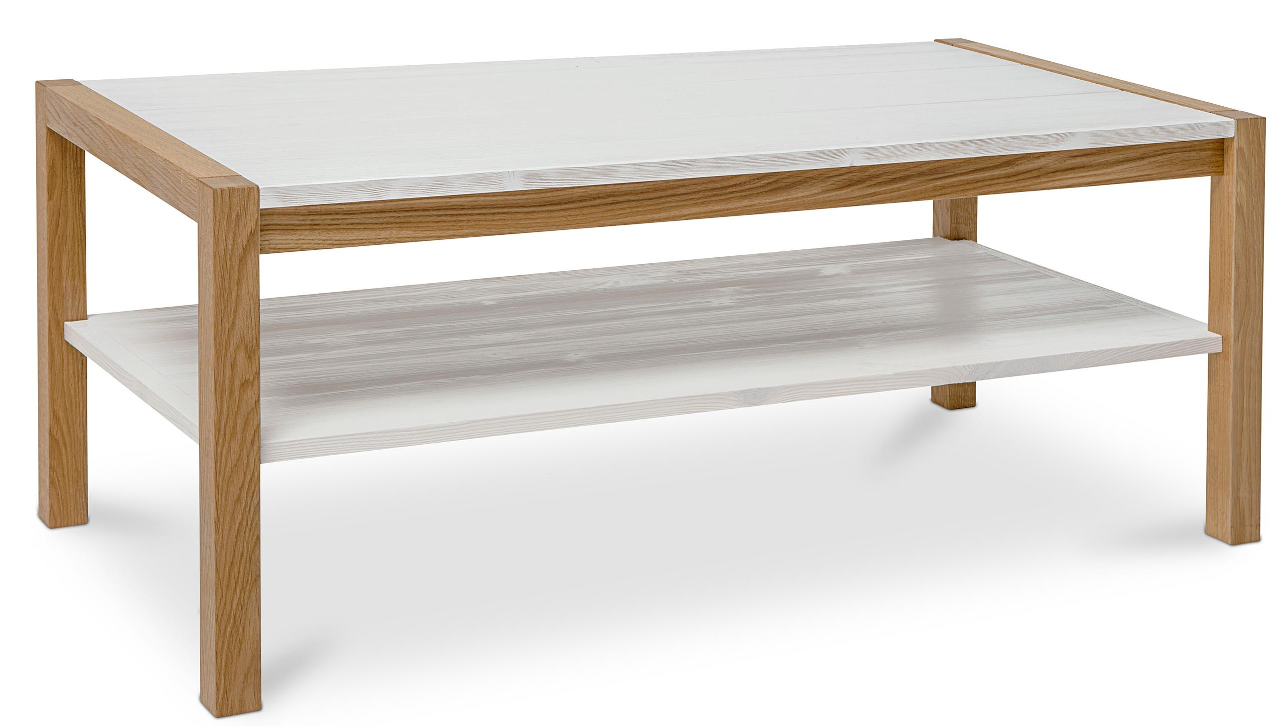 table basse scandinave blanc et pin massif karli. Black Bedroom Furniture Sets. Home Design Ideas
