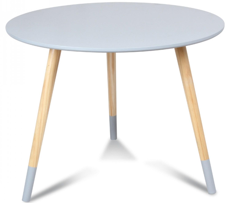 table basse scandinave grise vick 60. Black Bedroom Furniture Sets. Home Design Ideas
