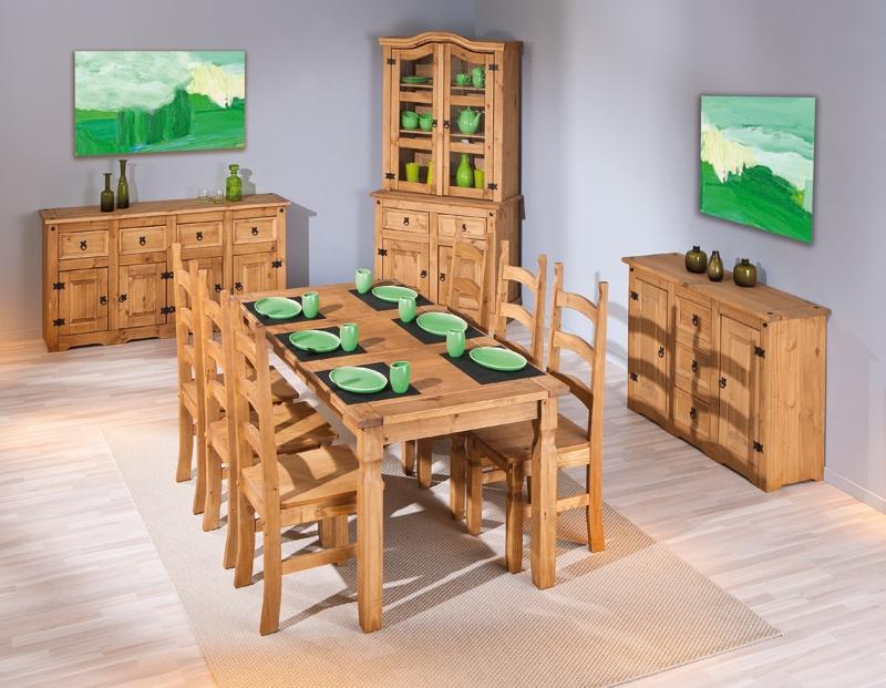 Table bois massif ciré Colonial  LesTendancesfr