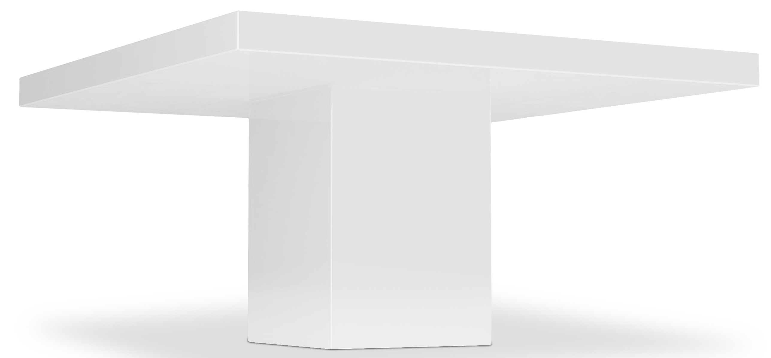 Table carr e haute qualit laqu blanc kare for Table blanche carree