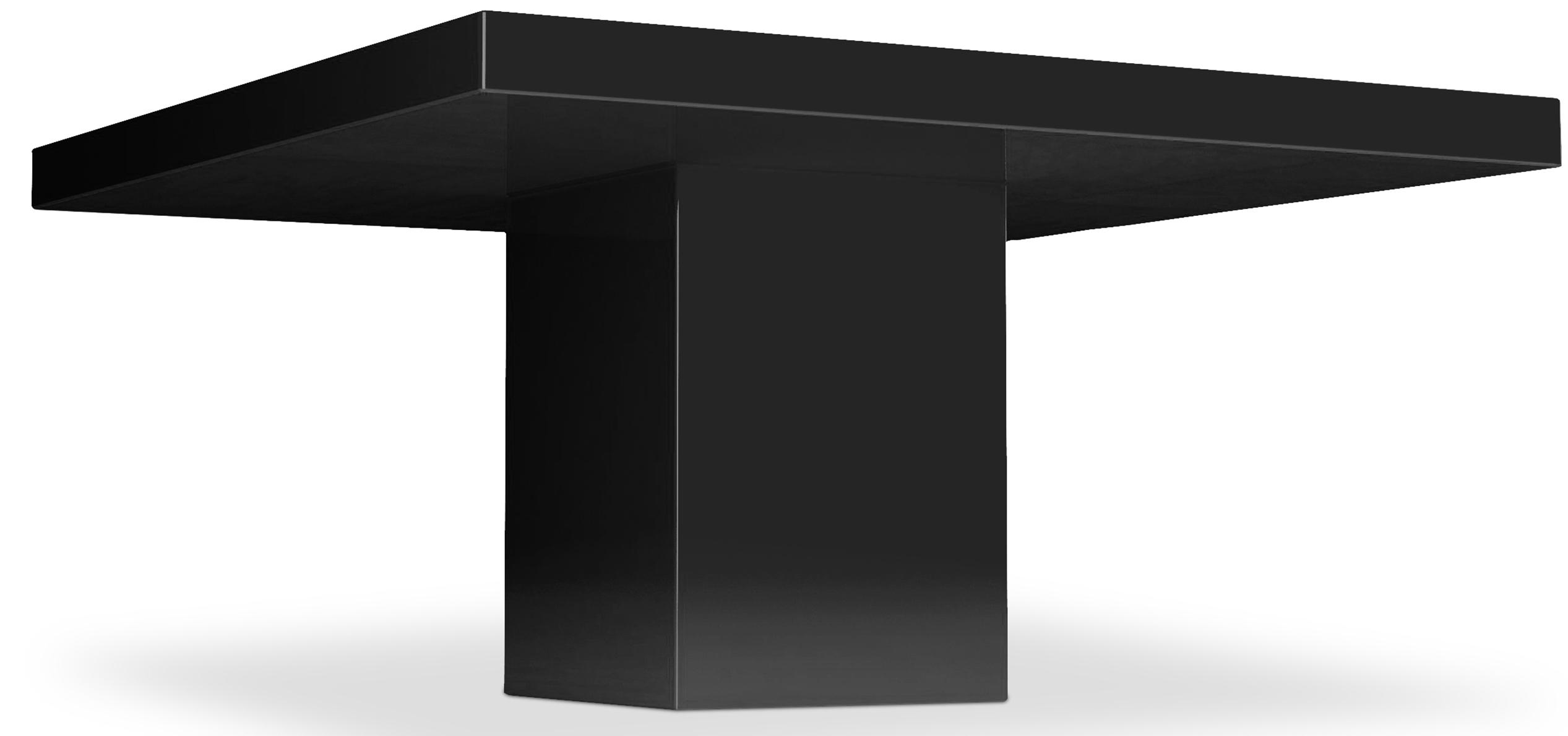 table carr e haute qualit laqu noir kare. Black Bedroom Furniture Sets. Home Design Ideas