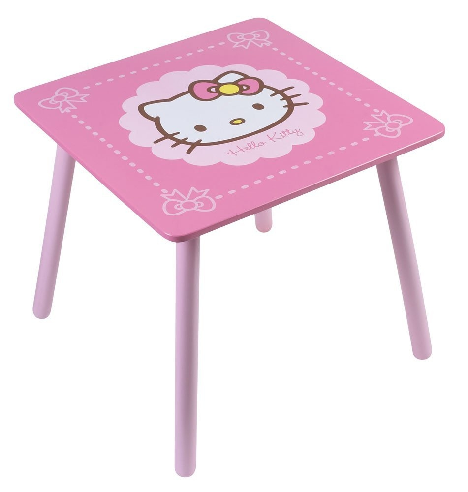 table carr e hello kitty bow. Black Bedroom Furniture Sets. Home Design Ideas
