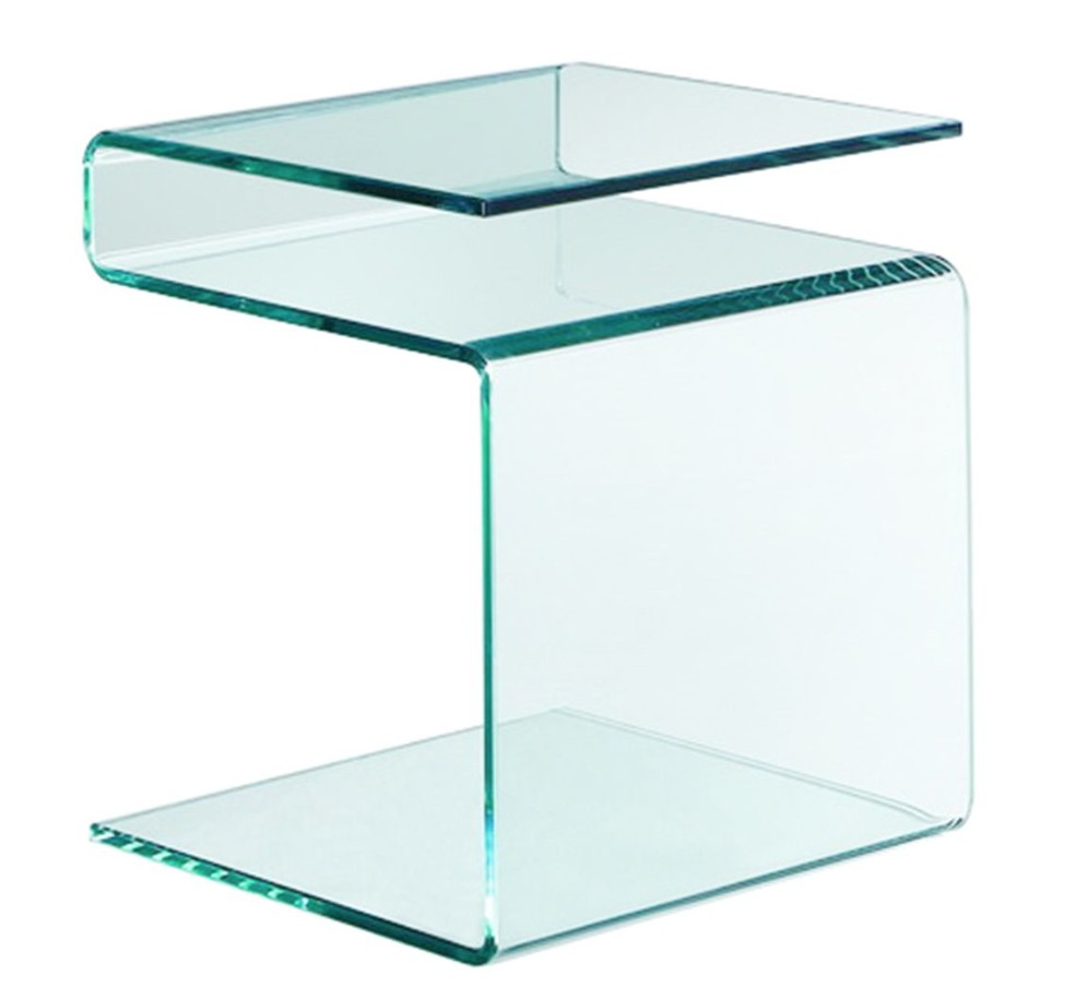 Table d 39 appoint verre tremp courb stella - Table d appoint malm ...