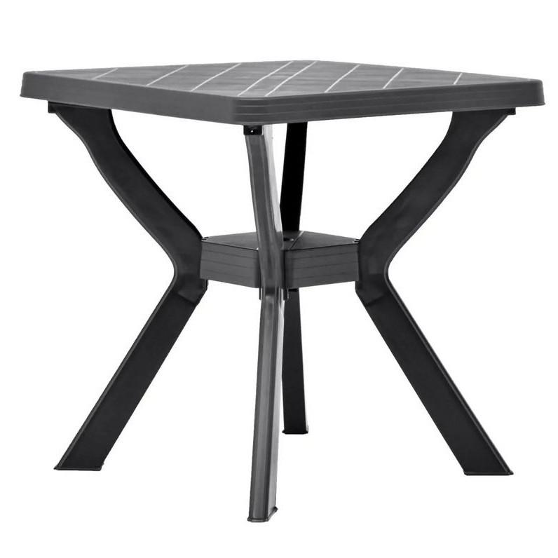 Table de bar carrée plastique anthracite Bouka |