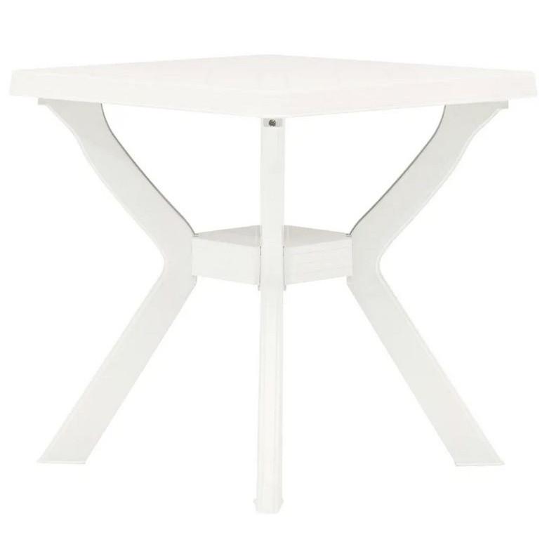 Table de bar carrée plastique blanc Bouka |