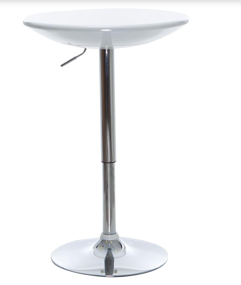 table de bar ronde r glable blanc bowy. Black Bedroom Furniture Sets. Home Design Ideas