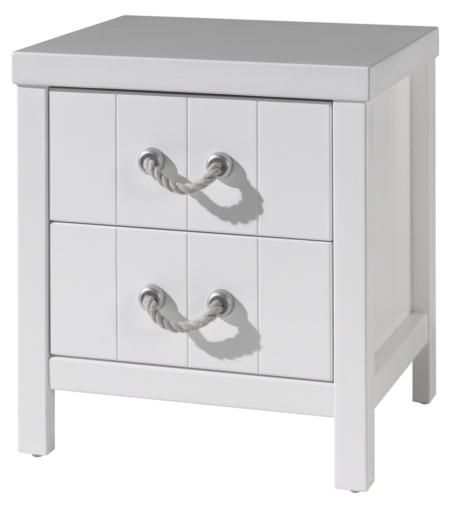 table de chevet 2 tiroirs laqu blanc marin. Black Bedroom Furniture Sets. Home Design Ideas