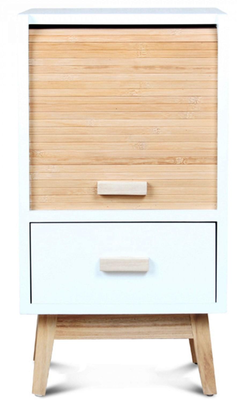 Table de chevet blanche design scandinave Roll | LesTendances.fr