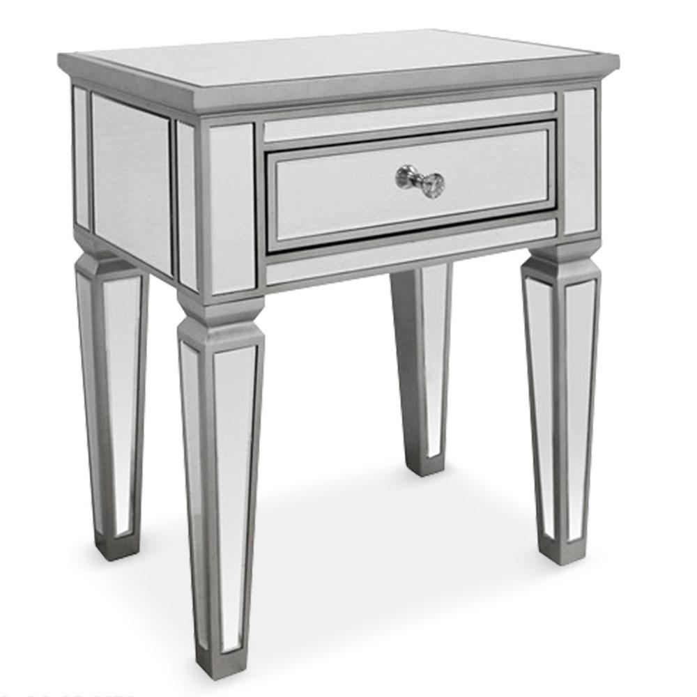 table de chevet miroirs venio. Black Bedroom Furniture Sets. Home Design Ideas