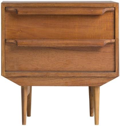 table de chevet nordique 2 tiroirs mindi massif clair naffy. Black Bedroom Furniture Sets. Home Design Ideas