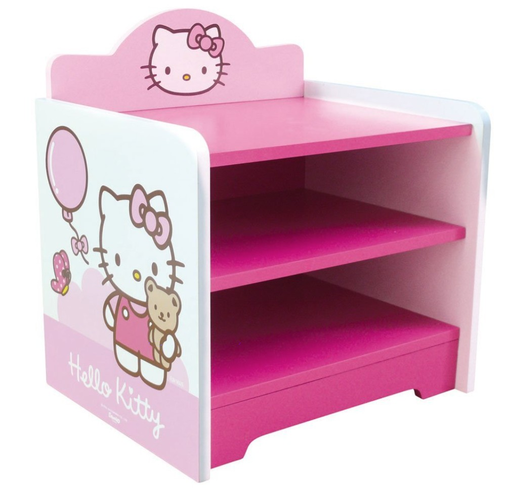 table de chevet rose hello kitty. Black Bedroom Furniture Sets. Home Design Ideas