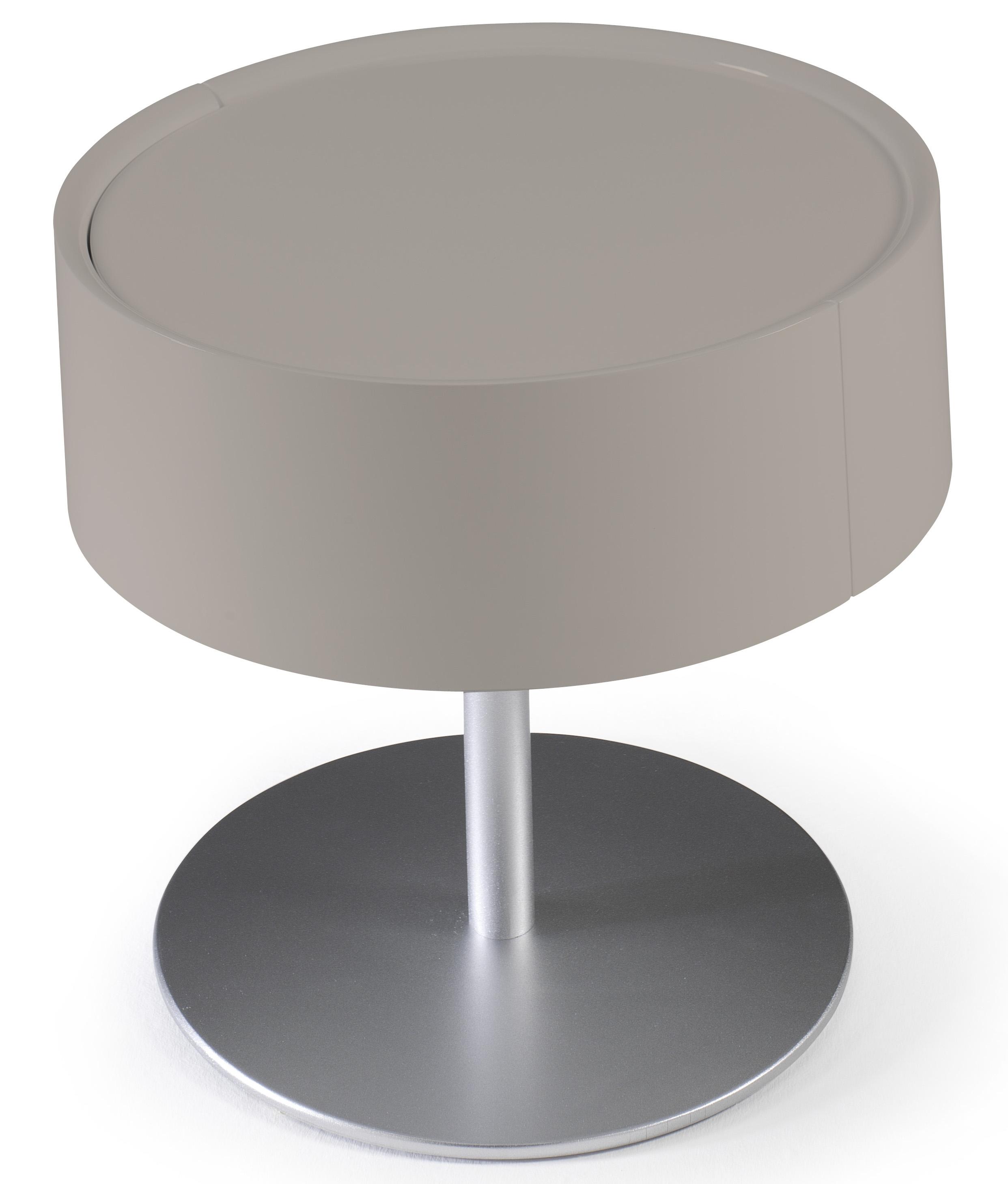 Table de chevet design taupe laqu torsada - Table de chevet taupe ...