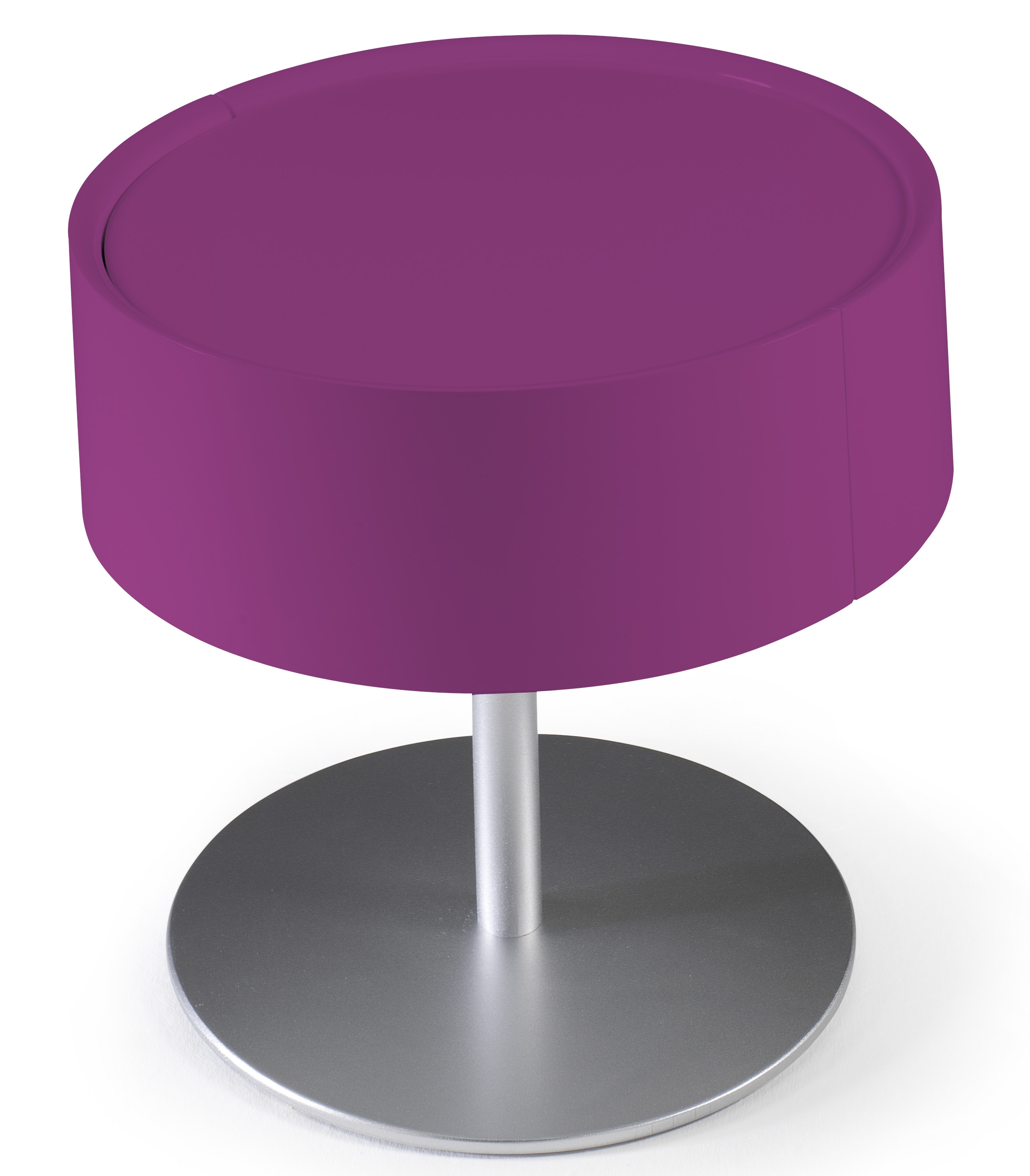 Table de chevet design fuchsia laqu torsada - Table de chevet laque ...