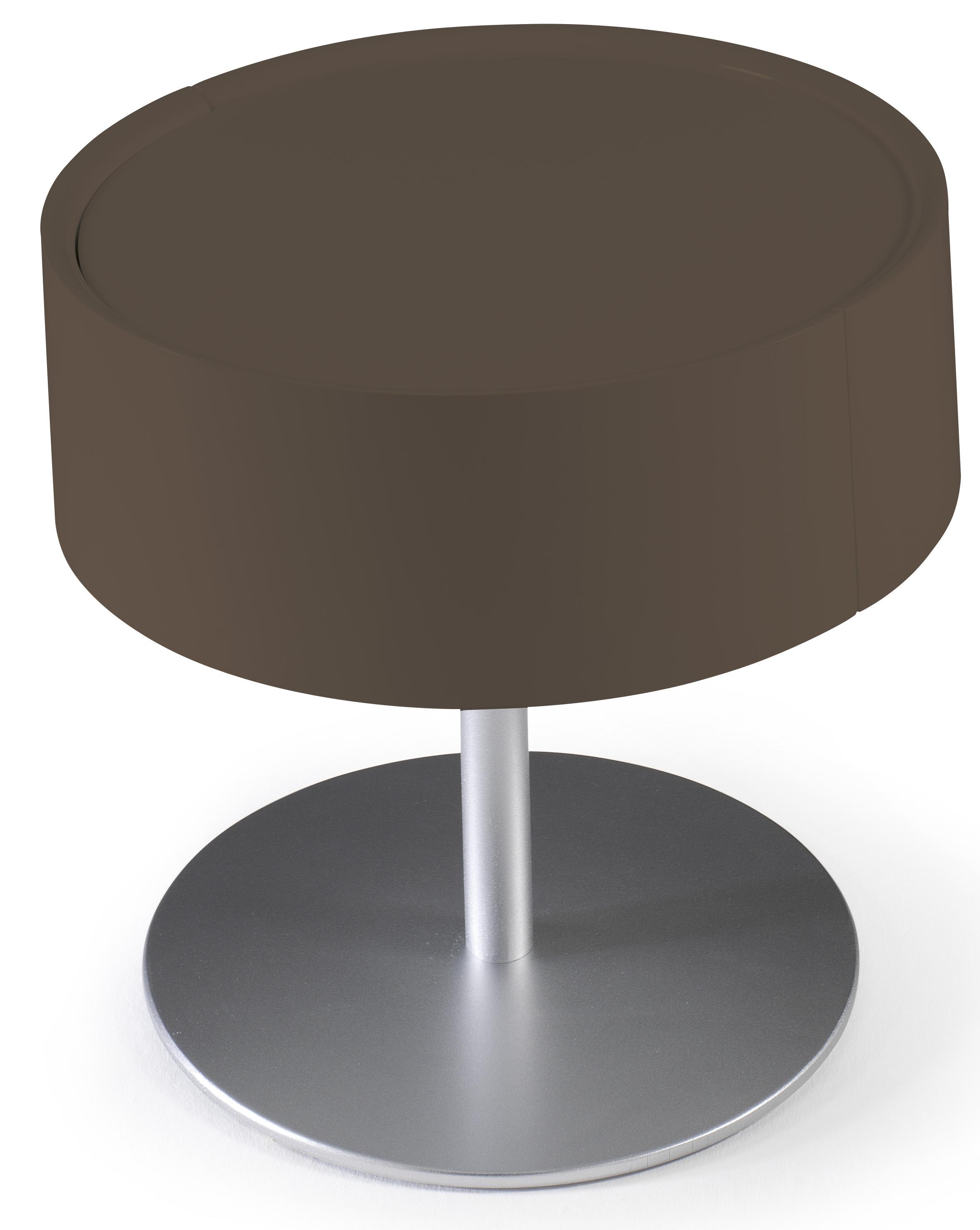 Table de chevet design marron laqu torsada - Table de chevet laque ...