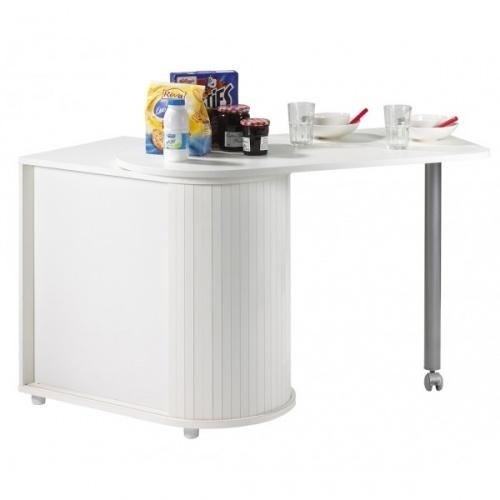Table de cuisine pivotante blanche cool 100 for Table cuisine blanche