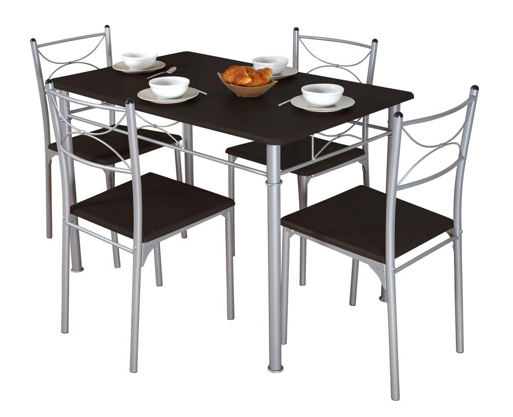 Table de cuisine weng et 4 chaises tuti for Table chaise de cuisine