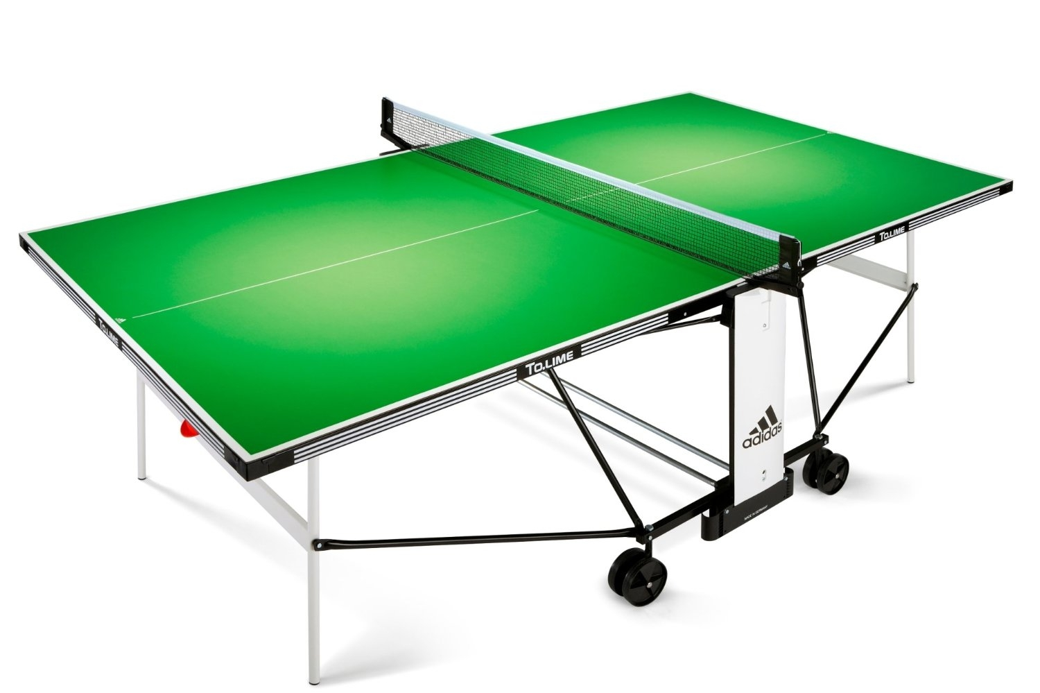table de ping pong d 39 ext rieur adidas to lime. Black Bedroom Furniture Sets. Home Design Ideas