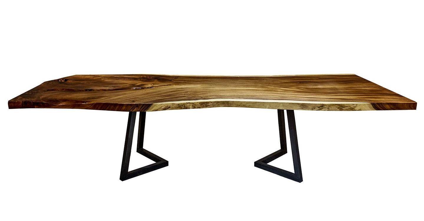 table de s jour bois massif noyer quateur vernis zingo 310. Black Bedroom Furniture Sets. Home Design Ideas