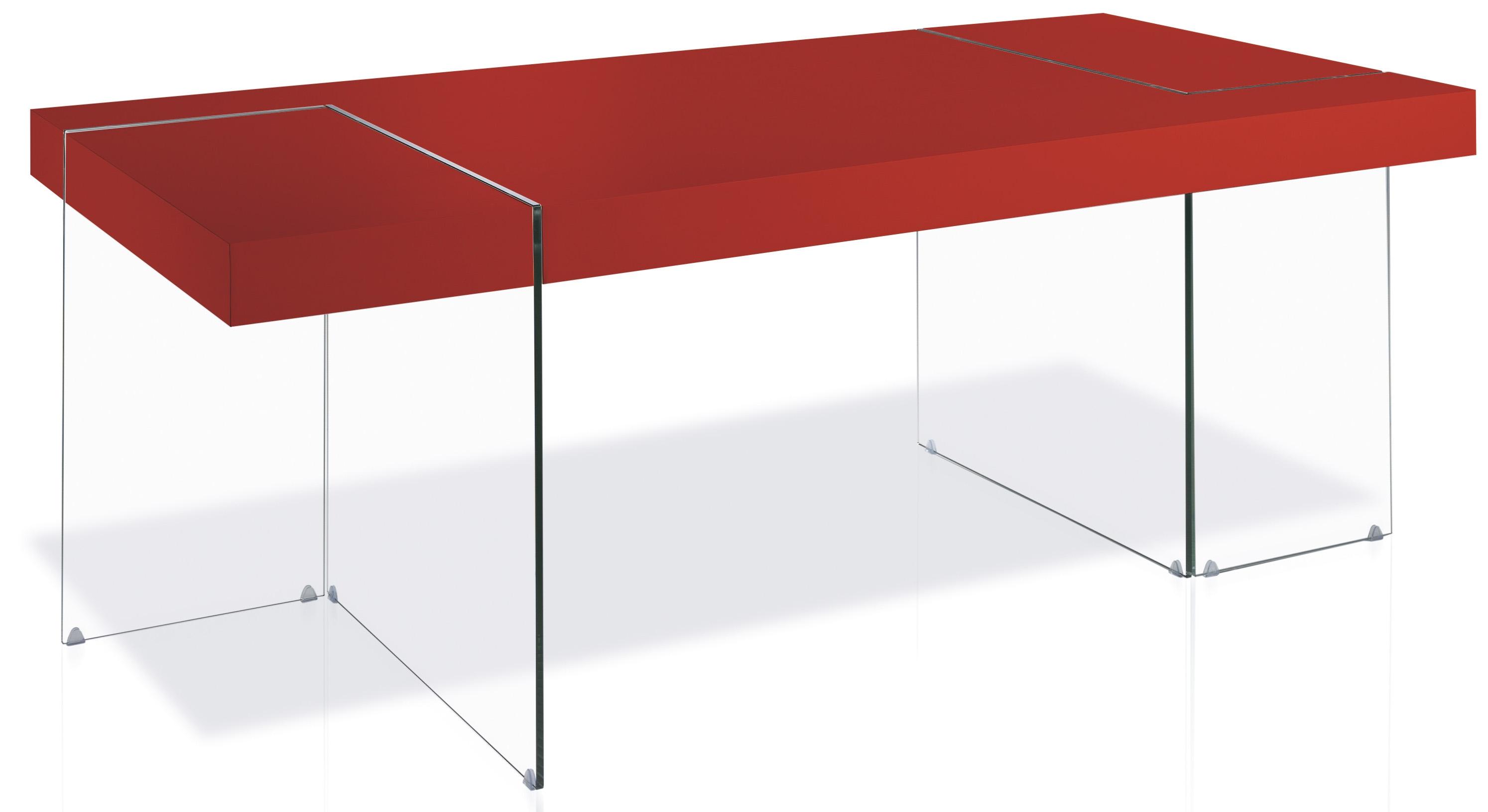 Table rectangulaire design rouge cubique - Table rectangulaire design ...