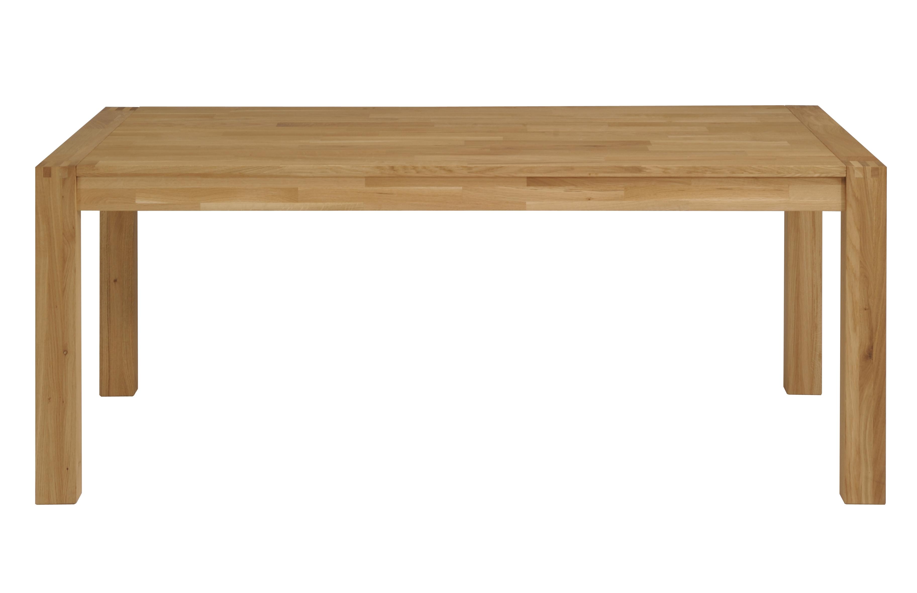 Table en ch ne massif huil avec allonge foreste - Table chene massif huile ...