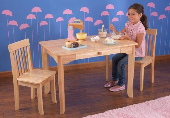 Table Et 2 Chaises Bois Naturel Avalon Kidkraft