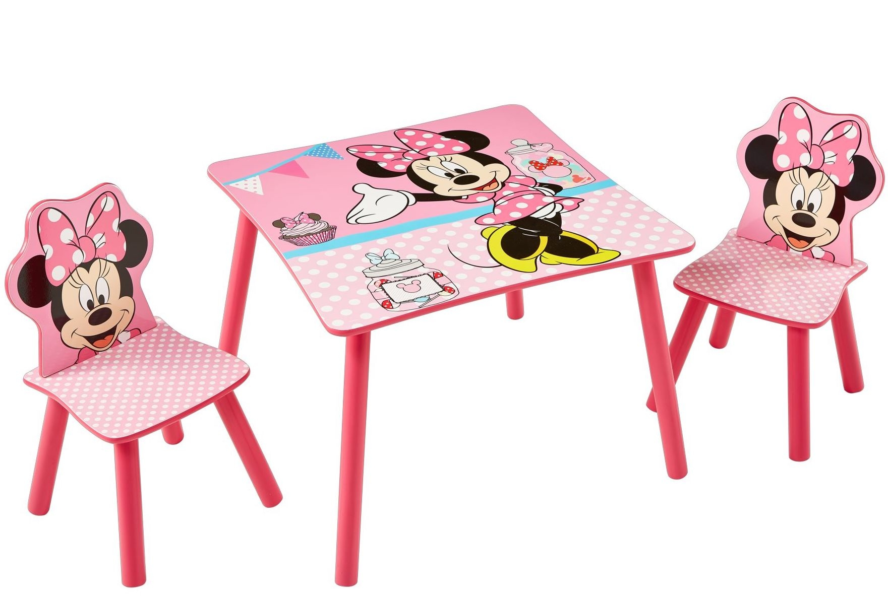 table et 2 chaises disney minnie. Black Bedroom Furniture Sets. Home Design Ideas