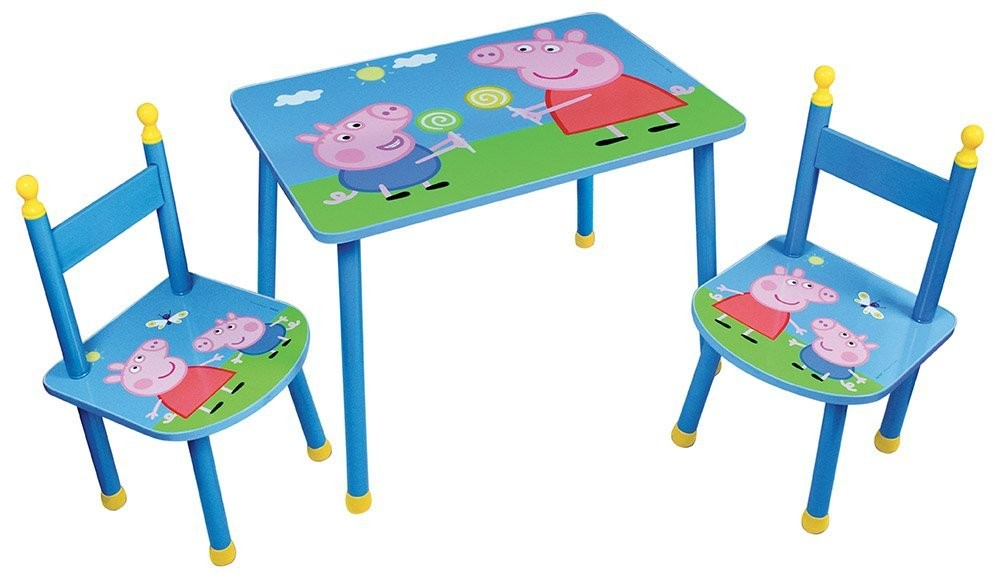 table et 2 chaises peppa pig disney. Black Bedroom Furniture Sets. Home Design Ideas