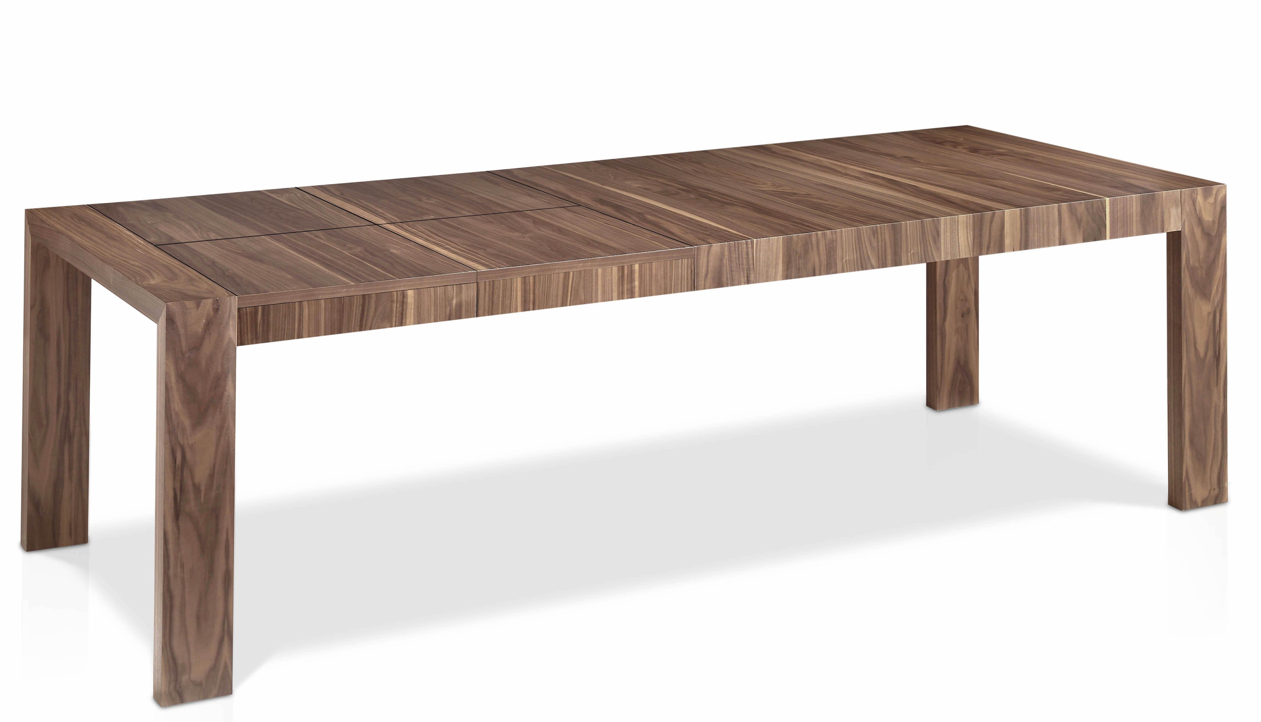 table extensible bois plaqu noyer 160 260 cm koza. Black Bedroom Furniture Sets. Home Design Ideas