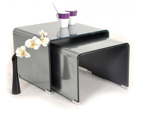 table gigogne verre miroir vitro. Black Bedroom Furniture Sets. Home Design Ideas