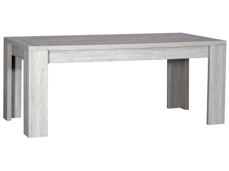 Table moderne rallonge grise kath for Table a rallonge moderne