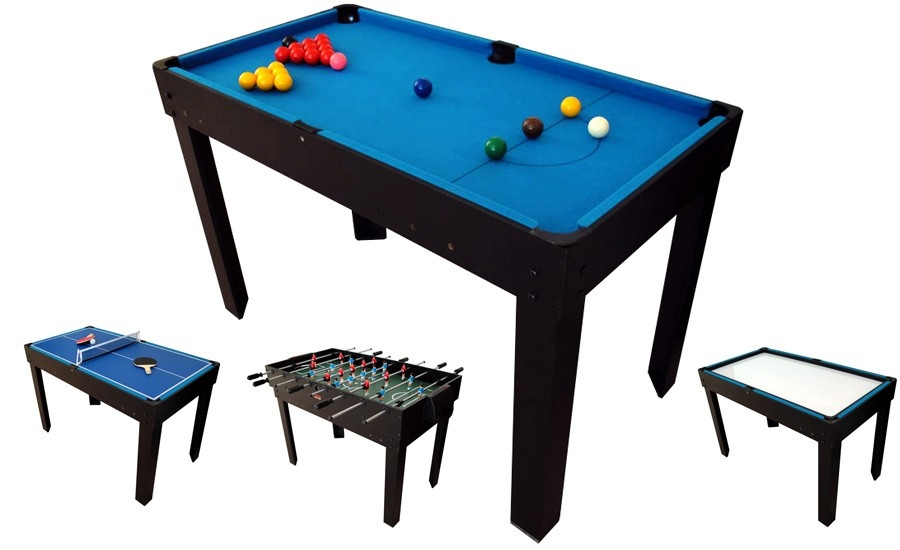 Table multi jeux 21 en 1 noire riley - Table multi jeux 5 en 1 ...