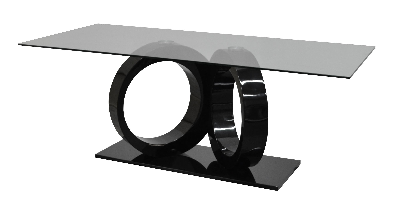 table en verre noir conceptions de maison. Black Bedroom Furniture Sets. Home Design Ideas