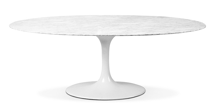 table ovale tulipe marbre 199 cm. Black Bedroom Furniture Sets. Home Design Ideas