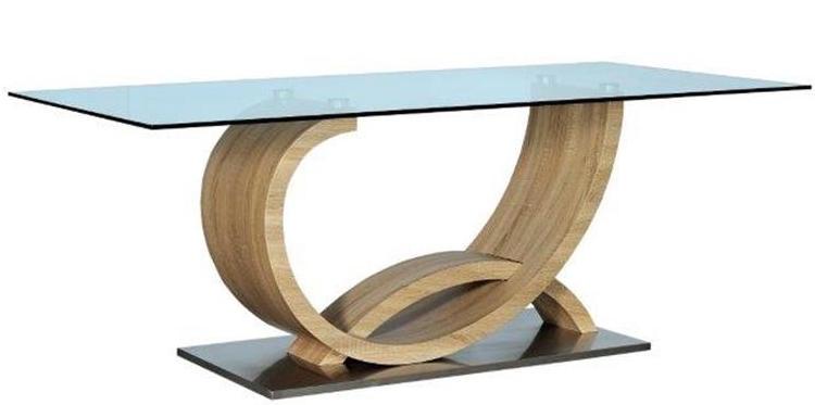 table rectangulaire avec plateau en verre liscia. Black Bedroom Furniture Sets. Home Design Ideas