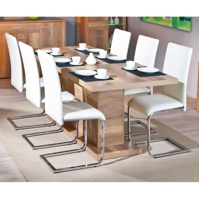Table rectangulaire ch ne brut 1 allonge absoluto 20 for Table rectangulaire a rallonge
