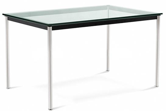 table rectangulaire en verre style lc10 le corbusier. Black Bedroom Furniture Sets. Home Design Ideas