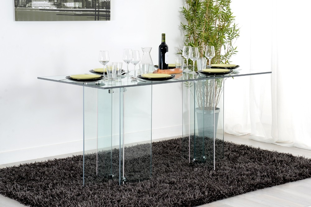 table repas verre transparent marco. Black Bedroom Furniture Sets. Home Design Ideas