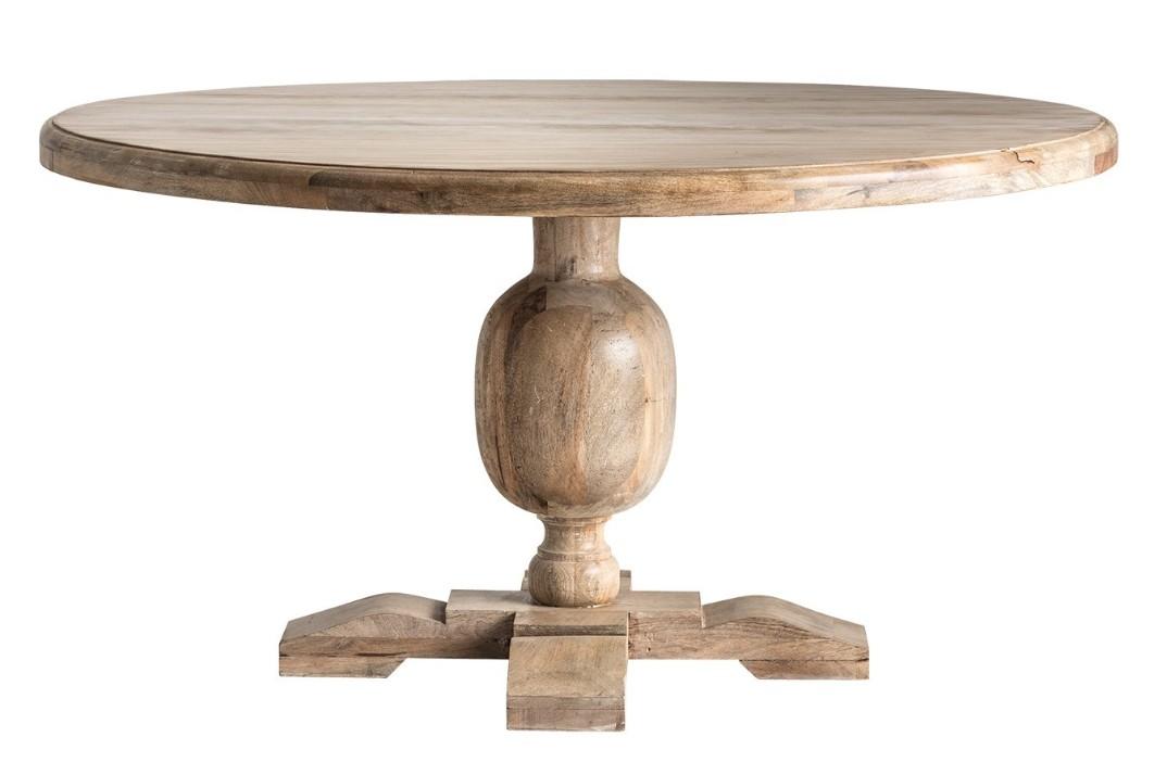 Table ronde bois de mangue kunila 145 - Table ronde bois clair ...